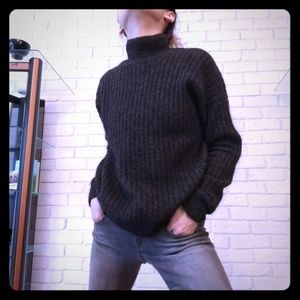 H&M Sweater 4 XS Mohair Gray Turtleneck S